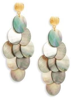 Nest Statement Grey Mother-Of-Pearl Chandelier Earrings