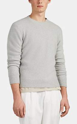 Barneys New York Men's Mélange Cashmere Crewneck Sweater - Silver