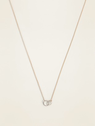 Old Navy Gold-Toned Circle-Charm Necklace for Women