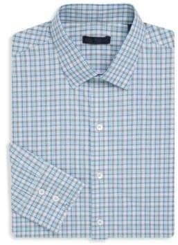 Zachary Prell Plaid Cotton Button-Down Shirt