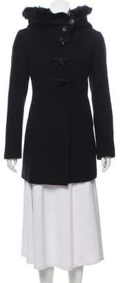 Andrew Marc Wool Fur Hooded Coat