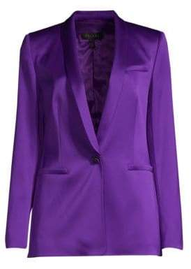Escada Women's Begasa Satin Tuxedo Jacket - Purple - Size 36 (6)