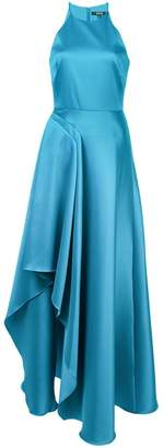 Badgley Mischka delicate ruffle gown