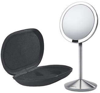Simplehuman Silvertone Mini Sensor Mirror with Travel Case - 10x Magnification
