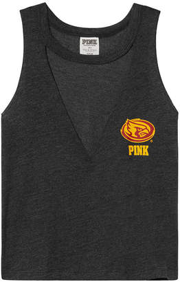 PINK Iowa State University Choker Neck Muscle Tank