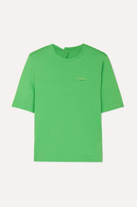 Andersson Bell - Printed Cotton-jersey T-shirt - Green