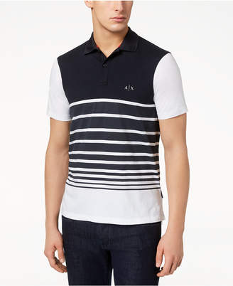 Armani Exchange Men's Multi-Striped Polo, Created for Macy's