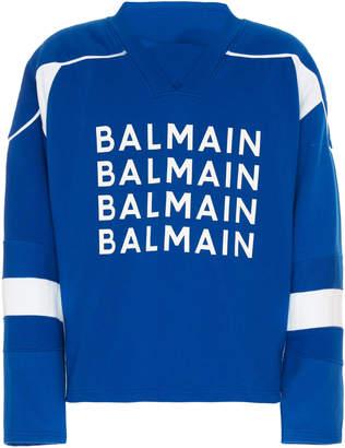 Balmain Logo Varsity Sweatshirt