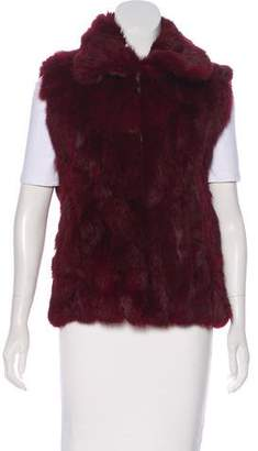 Saks Fifth Avenue Zip-Up Fur Vest