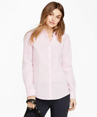 cf2d761eafea1 Free Standard Shipping at Brooks Brothers · Brooks Brothers Gingham Stretch Cotton  Poplin Shirt