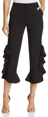 Alpha and Omega Ruffle Crop Trousers $68 thestylecure.com
