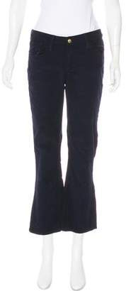 Frame Corduroy Mid-Rise Pants w/ Tags