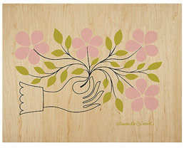 Columbia Forest Products Alexander Girard Hand With Flower PlyPrint®