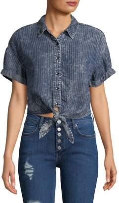 Splendid Rope Wash Striped Button-Down Shirt