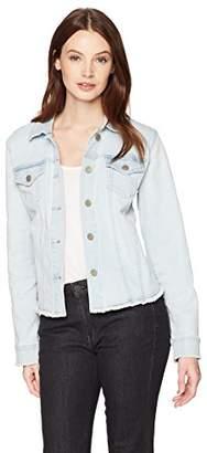 NYDJ Women's Denim Jacket with Fray Hem