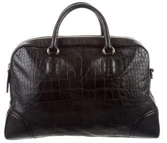Giorgio Armani Embossed Leather Satchel
