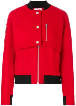 Courreges layered bomber jacket
