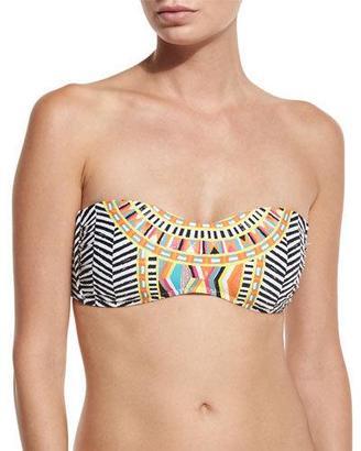 Trina Turk Brasilia Bandeau Swim Top, Multi $80 thestylecure.com