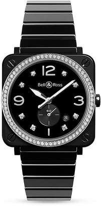 Bell & Ross BR S Black Ceramic Diamond Watch, 39mm