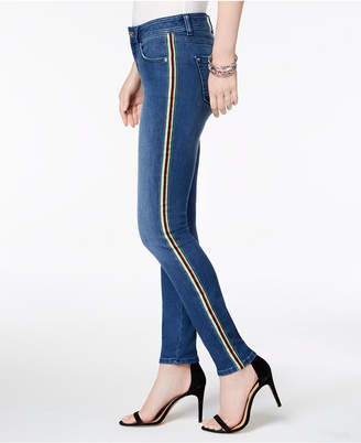 INC International Concepts I.n.c. Rainbow Side-Stripe Skinny Jeans, Created for Macy's