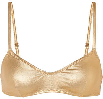 Solid & Striped Rachel Metallic Bikini Top - Shiny gold