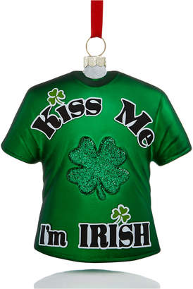 Holiday Lane Kiss Me I'm Irish T-Shirt Ornament, Created for Macy's