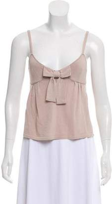 Anna Molinari Bow-Accented Knit Top