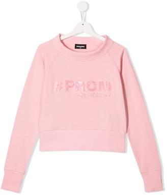 DSQUARED2 tPROM sequinned sweatshirt