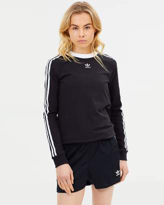 adidas 3 Stripes Long Sleeve Top