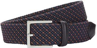 Canali Leather Woven 3-Tone Belt
