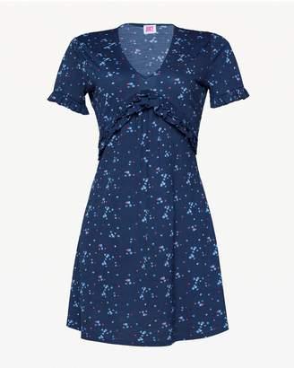 Juicy Couture Jxjc Floral Print Ruffle A Line Dress