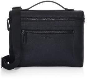 Salvatore Ferragamo Firenze Pebbled Leather Top Handle Briefcase