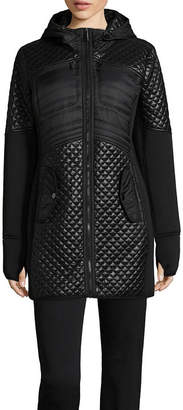 Liz Claiborne Hooded Quilted Jacket