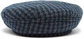 Maison Michel Flore dogstooth wool-blend beret