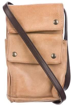 Brunello Cucinelli Small Leather Messenger Bag