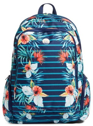Roxy Alright Print Backpack - Blue $40 thestylecure.com