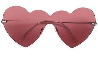 Christopher Kane Eyewear hear shaped sunglasses