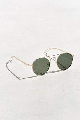 Urban Outfitters Squared Bridge Metal Round Sunglasses