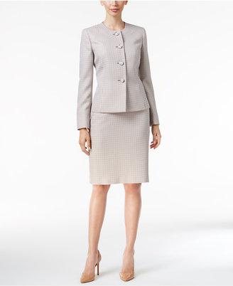 Le Suit Four-Button Tweed Skirt Suit $200 thestylecure.com