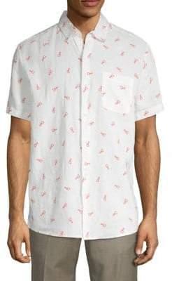 Saks Fifth Avenue Lobster Print Short-Sleeve Shirt