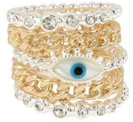 BCBGeneration Modern MysticEye Stackable Ring Set