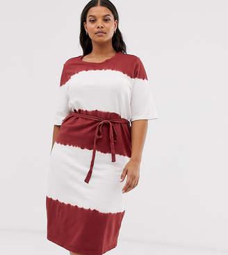 2429255f8ac91 Junarose tie front tie dye t-shirt midi dress