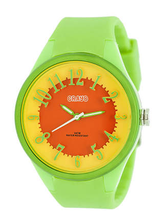 Crayo Womens Burst Lime Strap Watch Cracr3202
