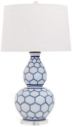 Port 68 Kenilworth Double-Gourd Table Lamp - White/Blue