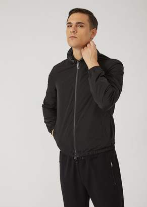 Emporio Armani Reversible Bomber With Detachable Hood