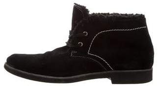 Anna Sui Suede Round-Toe Ankle Boots