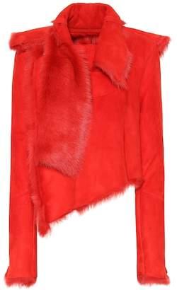 Unravel Fur lined suede jacket