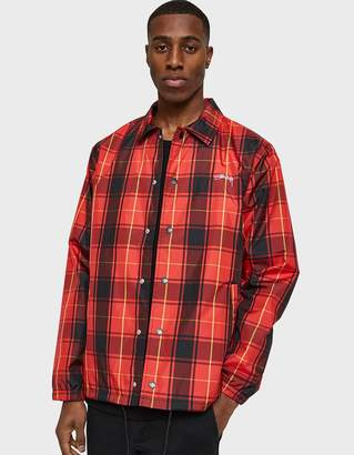 Stussy Cruize Coach Jacket in Red Plaid