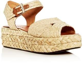 Clergerie Robert Women's Aude Raffia Platform Sandals