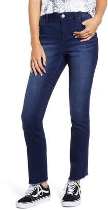 1822 Denim RE:Denim High Waist Raw Hem Jeans